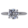 1.26 ct. Round Cut Solitaire Ring, G, VS1 #3