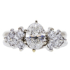 1.18 ct. Oval Cut Bridal Set Ring, I, VS2 #3
