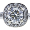 1.05 ct. Round Cut Halo Ring, H, SI2 #1