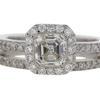 .90 ct. Emerald Cut Bridal Set Ring #1