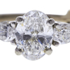1.18 ct. Oval Cut Bridal Set Ring, F, SI1 #4