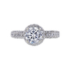 1.04 ct. Round Cut Halo Ring, G, SI1 #3
