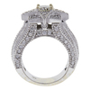 1.01 ct. Round Cut Central Cluster Ring, K, VS2 #4