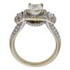 1.1 ct. Emerald Cut Halo Ring, K, VS1 #4