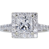 1.52 ct. Princess Cut Halo Ring, D, SI2 #1