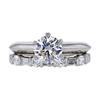 1.11 ct. Round Cut Bridal Set Tiffany & Co. Ring, F, VS1 #3