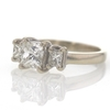 1.02 ct. Princess Cut 3 Stone Ring #4