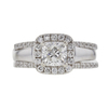 1.0 ct. Cushion Modified Cut Bridal Set Ring, I, SI1 #3