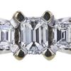 0.70 ct. Emerald Cut 3 Stone Ring, E, SI1 #4