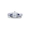 1.06 ct. Pear Cut Bridal Set Ring, E, SI2 #3