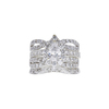 0.71 ct. Pear Cut Bridal Set Ring, D, SI2 #3