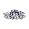 0.94 ct. Round Cut 3 Stone Ring, H, SI1 #3