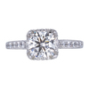 1.64 ct. Cushion Cut Halo Ring, H, VS1 #3