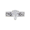 0.91 ct. Pear Cut Solitaire Ring, G, SI2 #3