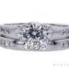 1.01 ct. Round Modified Brilliant Cut Bridal Set Ring, H, SI1 #3