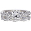 0.95 ct. Princess Cut Bridal Set Ring, H-I, SI2 #1