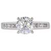 1.04 ct. Round Modified Cut Solitaire Ring, F, SI2 #3