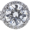 1.10 ct. Round Cut Bridal Set Ring, G, VS1 #4