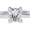 1.06 ct. Princess Cut Solitaire Ring #4