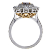 1.01 ct. Oval Cut Halo Ring, Fancy, SI2 #3