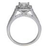 0.94 ct. Princess Cut Halo Ring, H-I, SI1-SI2 #2
