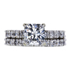 1.50 ct. Radiant Cut Bridal Set Ring, H, VS1 #3