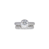 1.51 ct. Round Cut Bridal Set Ring, I, I2 #3