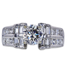1.01 ct. Round Cut Central Cluster Ring, K, VS1 #3
