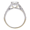 1.25 ct. Round Cut Bridal Set Ring, F, I2 #4