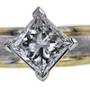 1.51 ct. Princess Cut Solitaire Ring, H, I1 #4