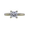 0.85 ct. Princess Cut Solitaire Ring, H, SI1 #3