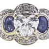 0.90 ct. Heart Cut 3 Stone Ring, G, SI1 #1