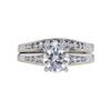 1.23 ct. Round Cut Bridal Set Ring, G, I1 #3