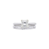 1.02 ct. Princess Cut Bridal Set Ring, J, VS2 #3