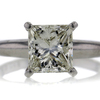 2.03 ct. Princess Cut Solitaire Ring #1