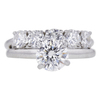 1.09 ct. Round Cut Bridal Set Ring, H, VS1 #3
