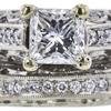 0.98 ct. Princess Cut Bridal Set Ring, G-H, SI2-I1 #1
