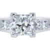 0.73 ct. Princess Cut Bridal Set Ring, H, SI1 #4