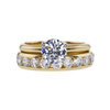1.00 ct. Round Cut Bridal Set Ring, D, I1 #3
