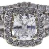 1.02 ct. Cushion Cut Bridal Set Ring, G, SI2 #4