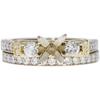 1.0 ct. Round Cut Bridal Set Ring, G, IF #3