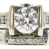 1.05 ct. Round Cut Bridal Set Ring, H-I, SI1-SI2 #1