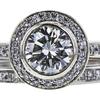 1.07 ct. Round Cut Bridal Set Ring, H, VS2 #4