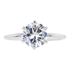 1.37 ct. Round Cut Solitaire Ring, G, SI2 #3