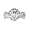2.02 ct. Round Cut Halo Ring, H, SI2 #3
