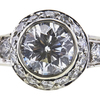 0.95 ct. Round Cut Halo Ring, H-I, SI2-I1 #1