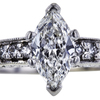 1.00 ct. Marquise Cut Bridal Set Ring, G, SI1 #4