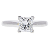 1.02 ct. Princess Cut Solitaire Ring, G, VS1 #3