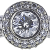 1.00 ct. Round Modified Brilliant Cut Halo Ring, I, SI2 #1