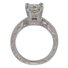 0.96 ct. Princess Cut Central Cluster Ring, E, SI2 #4